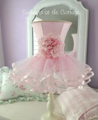 Darling shabby pink rose flower chic ruffles shade white