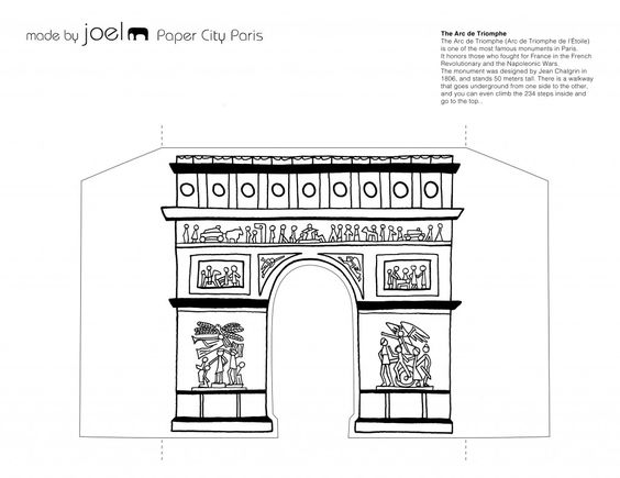 Paris, Paper templates and Arches on Pinterest