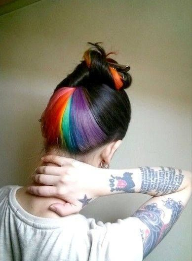 Image result for hidden rainbow hair color