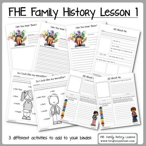 Family Home Evening Lesson #1 on Family History fun for