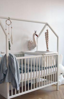 crib shaped like a house // modern nursery inspiration: