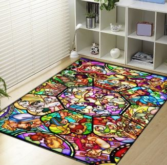 Make Your Cold Dorm Floor A Bit More Comfortable To Walk On By Adding A Beautiful Disney Rug