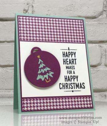 Suite Sayings, Merry Tags Framelits Dies, Stampin' Up!, Brian King, FabFri100, Christmas Card: