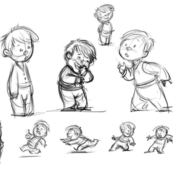 Little boy doodles. ##boy #sketch #art #characterdesign #