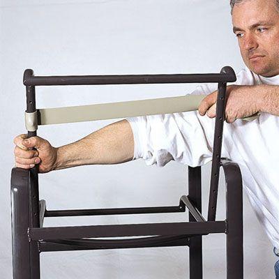 patio chair repair vinyl strap kohls massage pinterest • the world's catalog of ideas