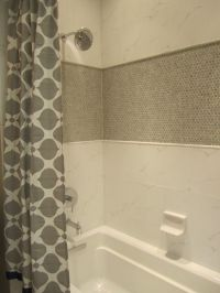 Floors. Penny Round Tile For Wall Accent Bathroom Interir ...
