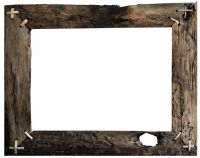 Barn wood frame ; transparent background
