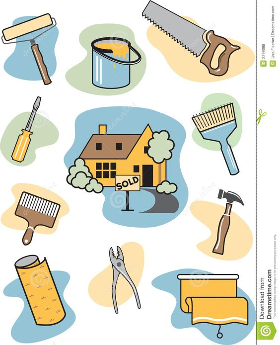 Home Improvement Clip Art Icon Info On Financing Home Repairs