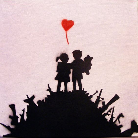 Banksy Original Replica Spray Paint Stencil Art by ...