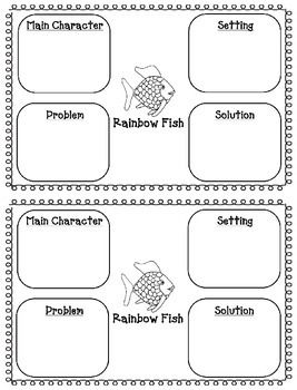 Story elements, Rainbow fish and Worksheets on Pinterest