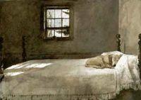 Andrew Wyeth - 'Master Bedroom' 1965 /The Wyeth family ...