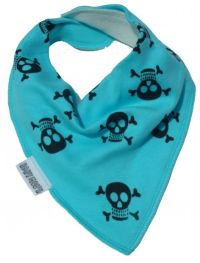 Blue Skull & Crossbones Dribble Bib