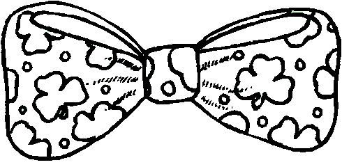 Free St. Patrick's Day Bow Tie Template or Coloring Page