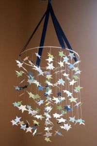 Star mobile, Old lamp shades and Baby mobiles on Pinterest