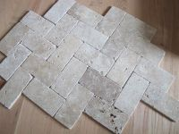 herringbone travertine tile floor | Live the Home Life ...