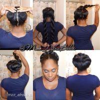 Faux bun, Jumbo twists and Kanekalon hair on Pinterest