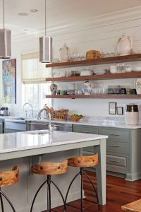 Open Kitchen Shelves Farmhouse Style