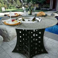 California Outdoor Concepts La Costa Fire Pit Table with ...