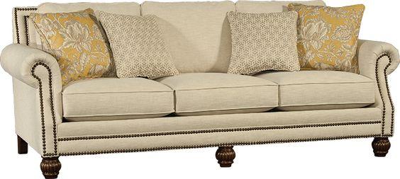 Mayo Furniture 4300F Fabric Sofa Kurtz Linen Mayo