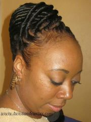 twist updo natural hair styles