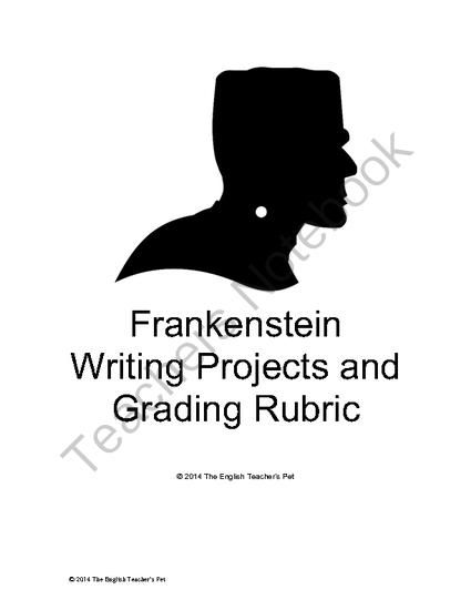 Shelleys Frankenstein Writing and Media Projects with