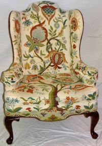 Wing chairs, Tree of life and Queen anne on Pinterest