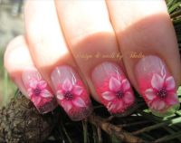 Flower+Acrylic+Nail+Designs | flowers nail art photo tags ...