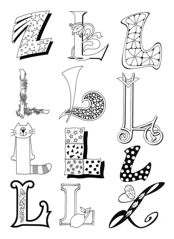 Letter l, Letters and Monograms on Pinterest