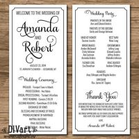 Elegant Wedding Program, Ceremony Program - PRINTABLE ...