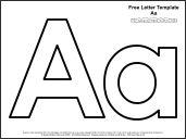 Free high-quality alphabet printables, plain, good