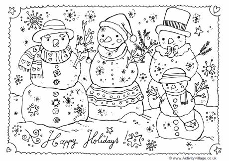 Happy holidays, Coloring pages and Holiday on Pinterest