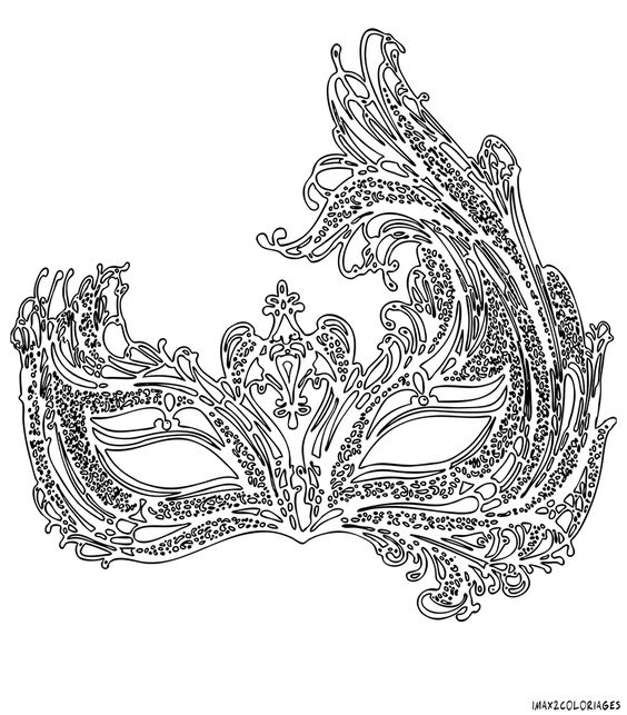 Brazil Carnival Mask Coloring Pages Coloring Pages