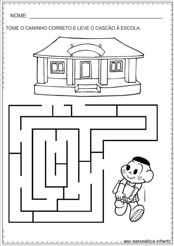 Matemática Infantil: Atividades com Labirintos para