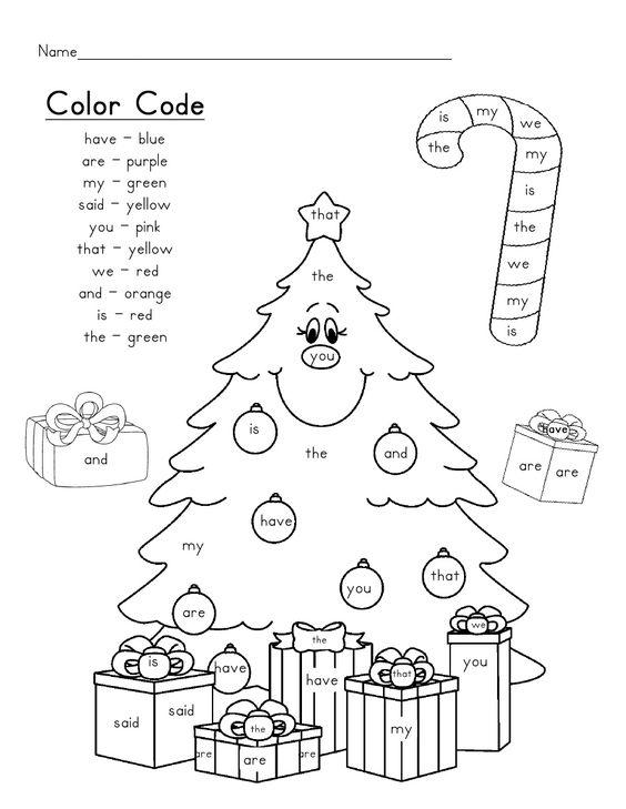 Christmas Language Arts Worksheets For Kindergarten