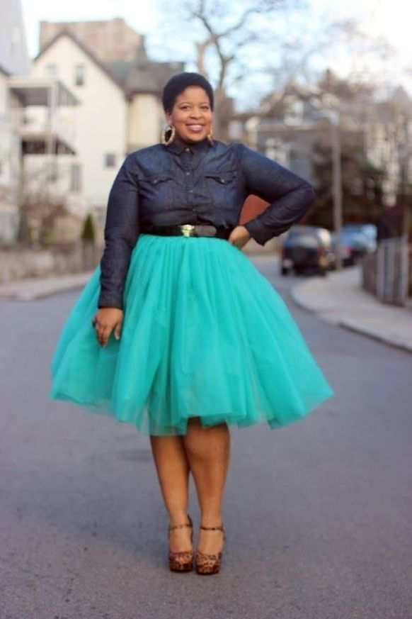 5 ways to wear a tulle skirt for plus size - Page 4 of 5 - women-outfits.com