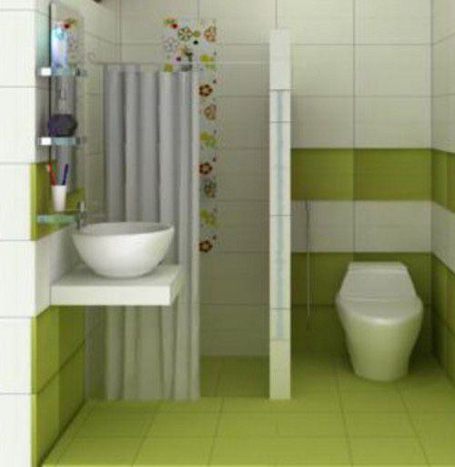 Satukanlah warna yang ada pada dinding serta pada keramik atau lantai supaya Desain Kamar Mandi