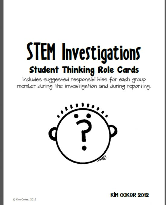 STEM Investigations Student Thinking Role Cards