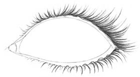 Some people's eyelashes appear very thick, dark, and long