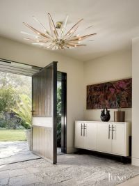 Modern Entry with Pivoting Front Door | Luxe | Entries ...