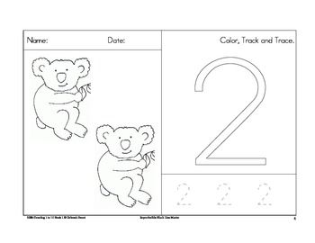 FREE.......Counting worksheets 1 to 10 with a koala theme