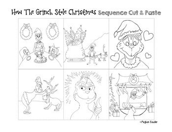 How the Grinch Stole Christmas- Cut & Paste Sequencing