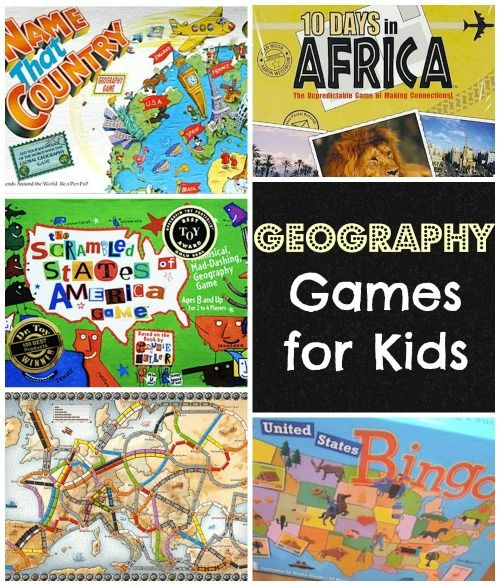 Geography Board games for kids and Games for kids on