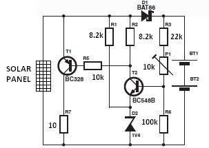 Circuit diagram, Charger and Solar charger on Pinterest