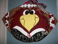 USC Gamecocks Football Burlap Door Hanger Featuring COCKY ...