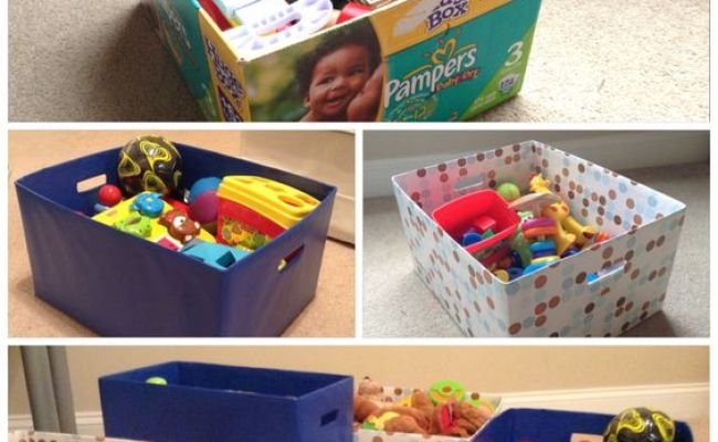 Diy Toy Storage Boxes Kids Room Pinterest Toys