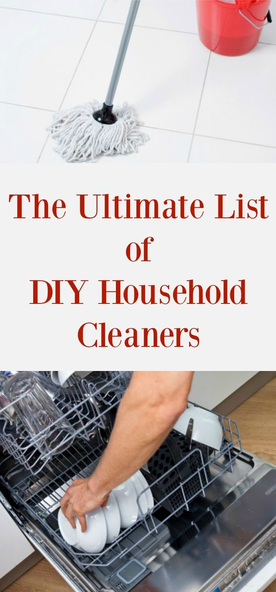 A complete list of DIY household cleaners that you can make for pennies. Cleaners for every room in your house! All-natural household cleaners: