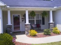 DIY stone craftsman style columns my husband and I did on