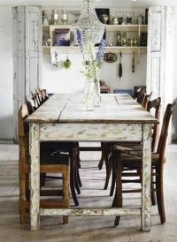 French country, Country farmhouse and Table and chairs on ...