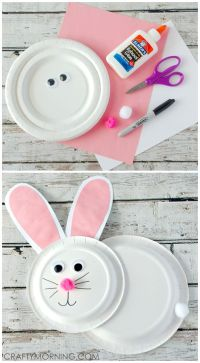 Paper Plate Bunny Rabbit Craft for Kids | For kids ...