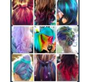 cool hairstyles dyed hair